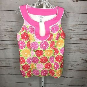 Lilly Pulitzer Womens sleeveless Citrus Print Top